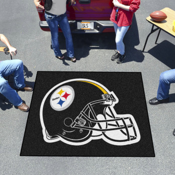 "59.5"" x 71"" Pittsburgh Steelers Black Tailgater Mat"