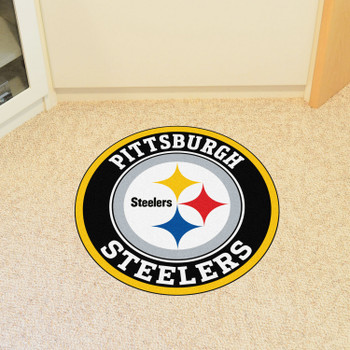 """27"""" Pittsburgh Steelers Roundel Round Mat"""