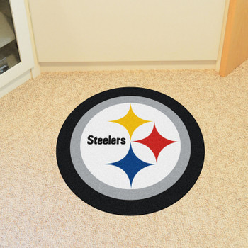 Pittsburgh Steelers Black Mascot Mat