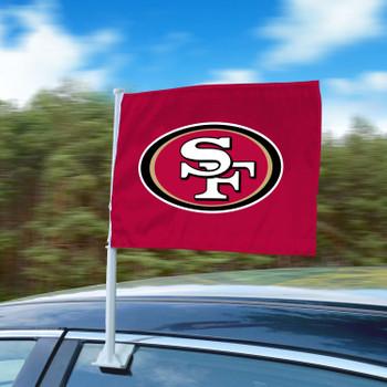 "11"" x 14"" San Francisco 49ers Maroon Car Flag"