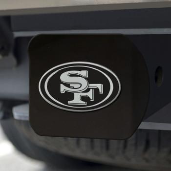 San Francisco 49ers Hitch Cover - Chrome on Black