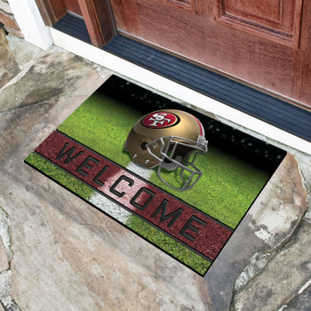 "18"" x 30"" San Francisco 49ers Red Crumb Rubber Door Mat"