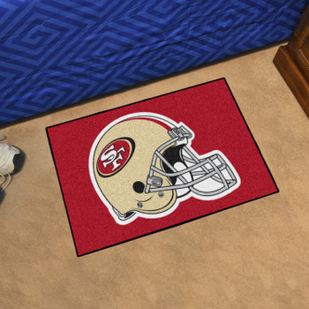 "19"" x 30"" San Francisco 49ers Gold Rectangle Starter Mat"