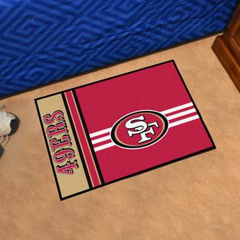 """19"""" x 30"""" San Francisco 49ers Uniform Red Rectangle Starter Mat"""