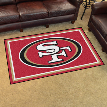 4' x 6' San Francisco 49ers Red Rectangle Rug