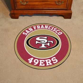 "27"" San Francisco 49ers Roundel Round Mat"