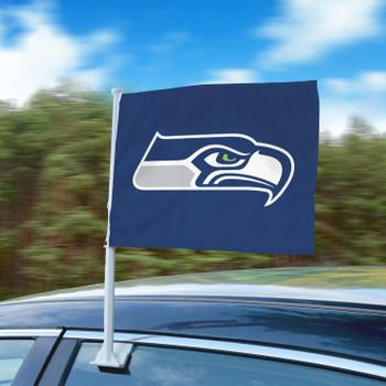 "11"" x 14"" Seattle Seahawks Blue Car Flag"