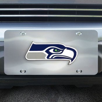 Seattle Seahawks Diecast Stainless Steel License Plate