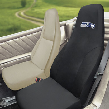Seattle Seahawks Black Car Seat Cover