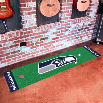 """18"""" x 72"""" Seattle Seahawks Putting Green Runner Mat"""