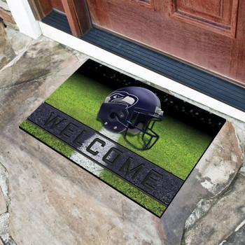 "18"" x 30"" Seattle Seahawks Blue Crumb Rubber Door Mat"