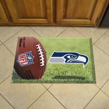 "19"" x 30"" Seattle Seahawks Rectangle Photo Scraper Mat"