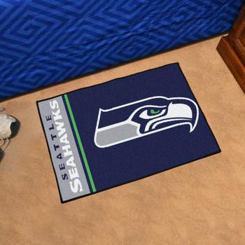 """19"""" x 30"""" Seattle Seahawks Uniform Blue Rectangle Starter Mat"""