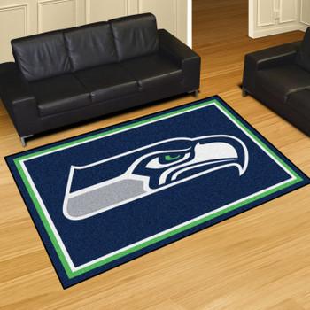 "59.5"" x 88"" Seattle Seahawks Blue Rectangle Rug"