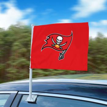 "11"" x 14"" Tampa Bay Buccaneers Red Car Flag"