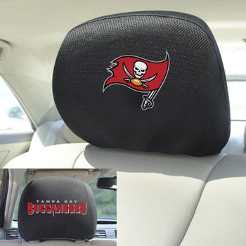 Tampa Bay Buccaneers Car Headrest Cover, Set of 2