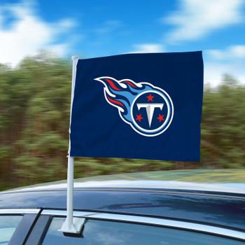 """11"""" x 14"""" Tennessee Titans Blue Car Flag"""