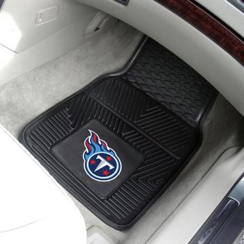 Tennessee Titans Black Vinyl Car Mat, Set of 2