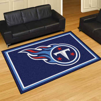 """59.5"""" x 88"""" Tennessee Titans Gray Rectangle Rug"""