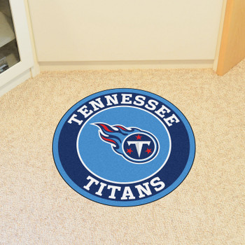 """27"""" Tennessee Titans Roundel Round Mat"""