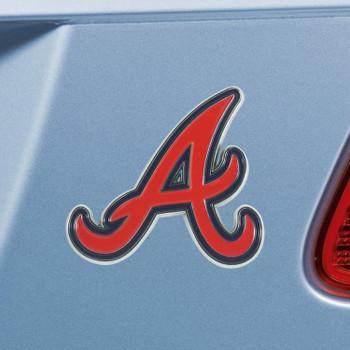 Atlanta Braves Red Emblem, Set of 2
