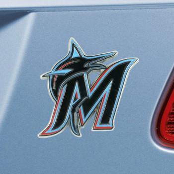 Miami Marlins Black Emblem, Set of 2