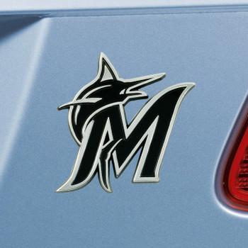 Miami Marlins Chrome Emblem, Set of 2