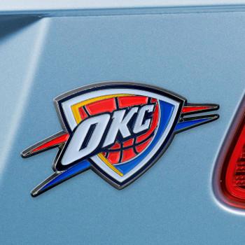 Oklahoma City Thunder Blue Emblem, Set of 2