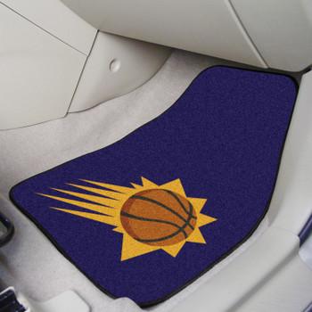 Phoenix Suns Black Carpet Car Mat, Set of 2