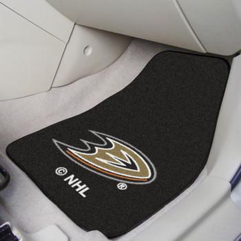 Anaheim Ducks Black Carpet Car Mat, Set of 2