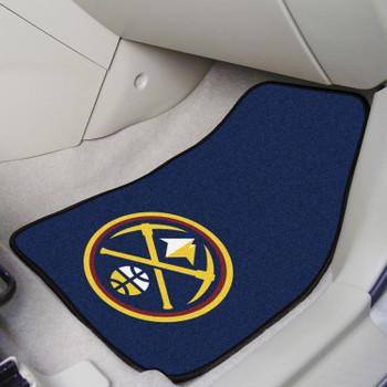 Denver Nuggets Navy Carpet Car Mat, Set of 2
