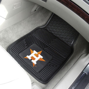 Houston Astros Black Vinyl Car Mat, Set of 2