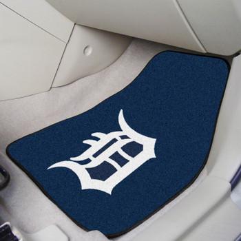 Detroit Tigers Navy Carpet Car Mat, Set of 2