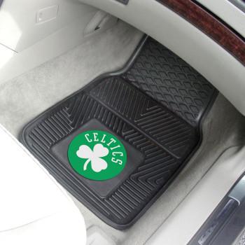 Boston Celtics Black Vinyl Car Mat, Set of 2