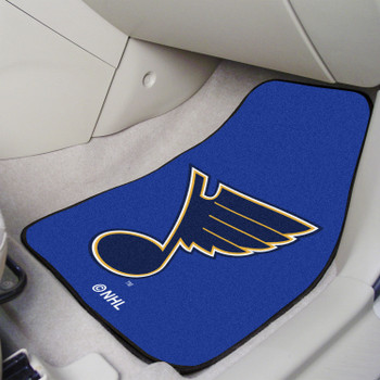 St. Louis Blues Navy Carpet Car Mat, Set of 2