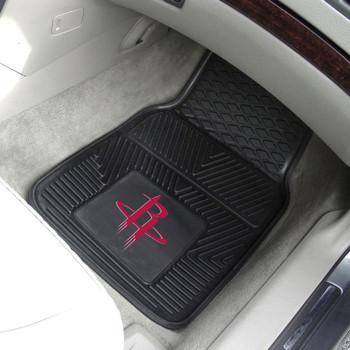 Houston Rockets Black Vinyl Car Mat, Set of 2