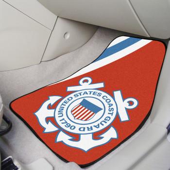 U.S. Coast Guard Red Carpet Car Mat, Set of 2
