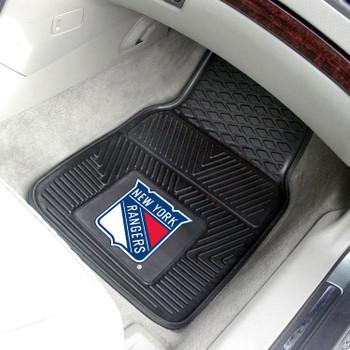 New York Rangers Black Vinyl Car Mat, Set of 2