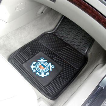 U.S. Coast Guard Black Vinyl Car Mat, Set of 2