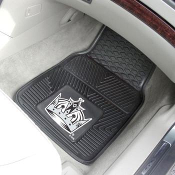 Los Angeles Kings Black Vinyl Car Mat, Set of 2