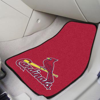 St. Louis Cardinals Red Carpet Car Mat, Set of 2