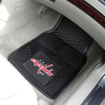 Washington Capitals Black Vinyl Car Mat, Set of 2