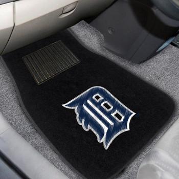 Detroit Tigers Embroidered Black Car Mat, Set of 2