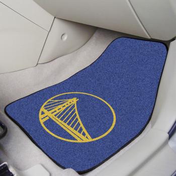 Golden State Warriors Blue Carpet Car Mat, Set of 2