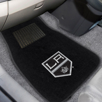 Los Angeles Kings Embroidered Black Car Mat, Set of 2