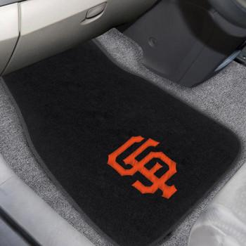 San Francisco Giants Embroidered Black Car Mat, Set of 2