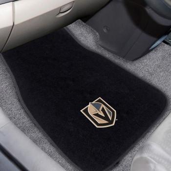 Vegas Golden Knights Embroidered Black Car Mat, Set of 2