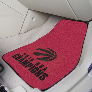 Toronto Raptors 2019 NBA Finals Champions Red Carpet Car Mat, Set of 2