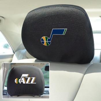 Utah Jazz Embroidered Car Headrest Cover, Set of 2