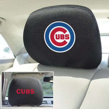 Chicago Cubs Embroidered Car Headrest Cover, Set of 2